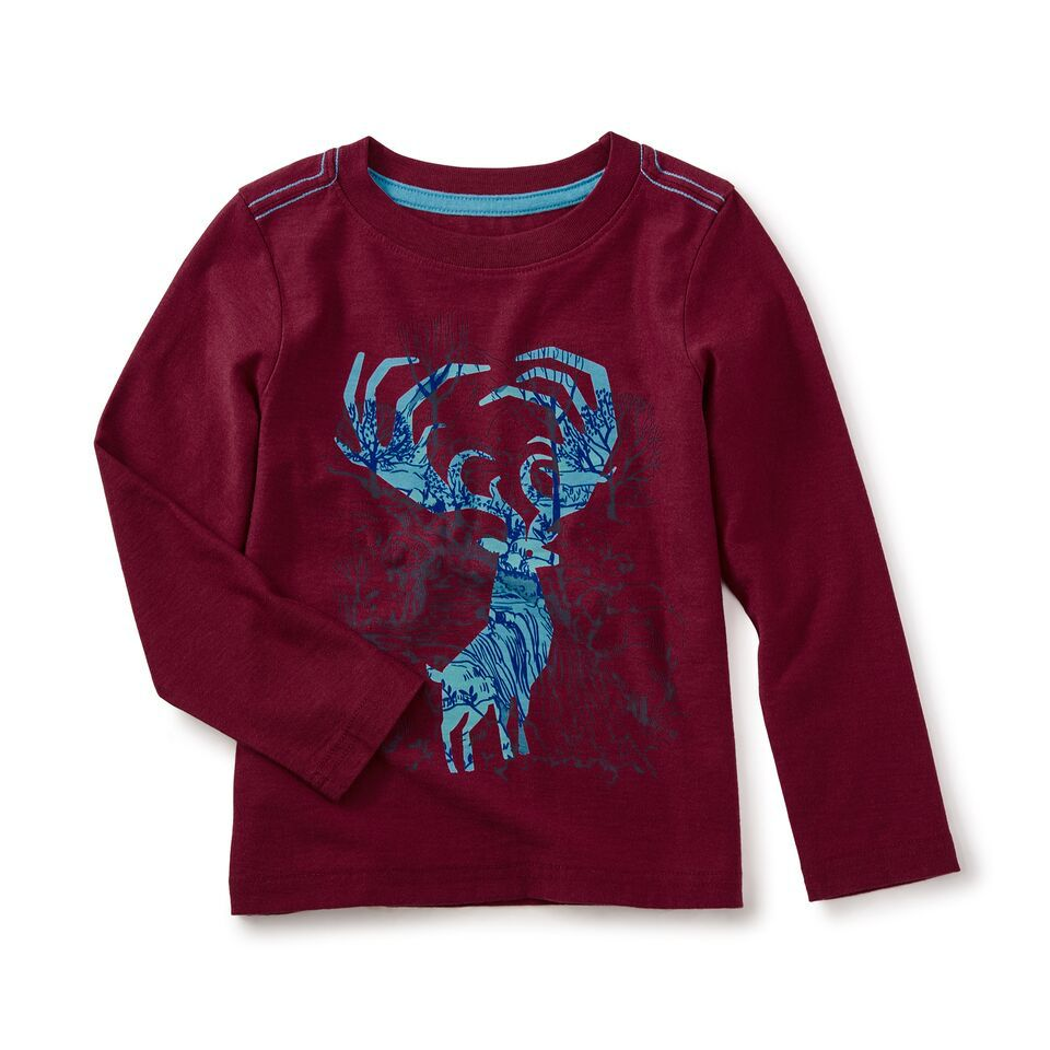 toddler boy antlers graphic tee, size 3