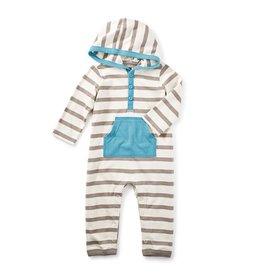 little boy fyne hoodie romper, 6-9m