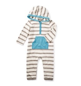 little boy fyne hoodie romper, 3-6m