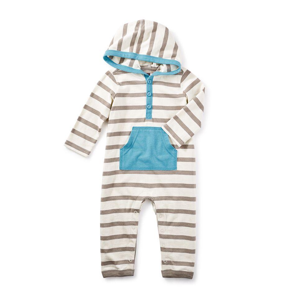 little boy fyne hoodie romper, 12-18