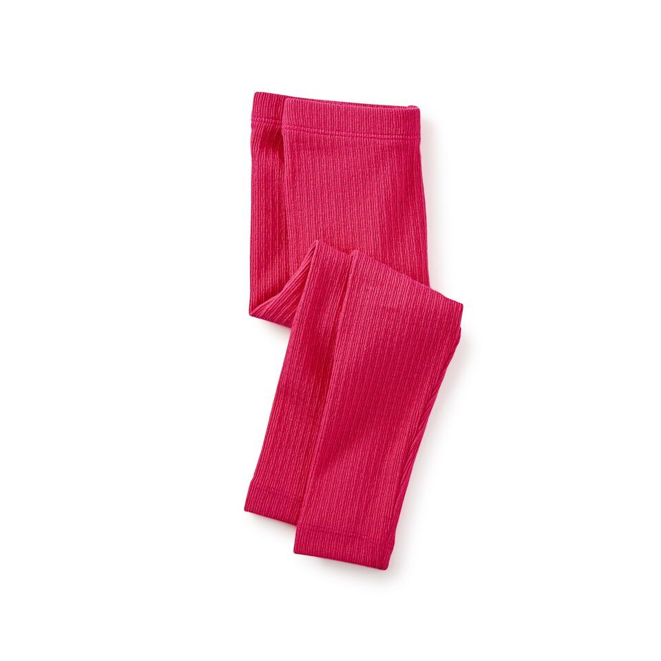 little girl pointelle leggings, cherry, 9-12m