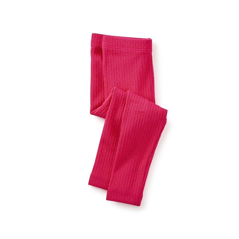 little girl pointelle leggings, cherry, 6-9m