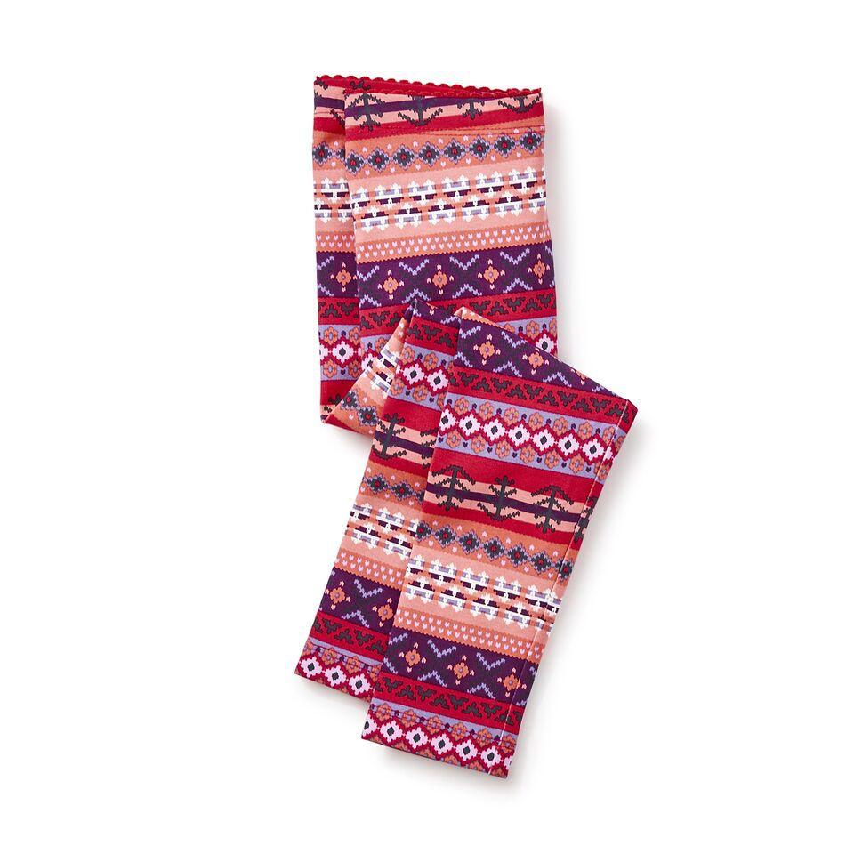 girl fair isle stripe leggings, size 5