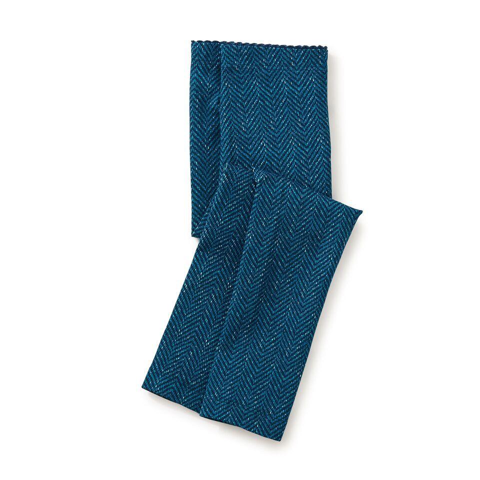 girl tweed print leggings, river green, size 6