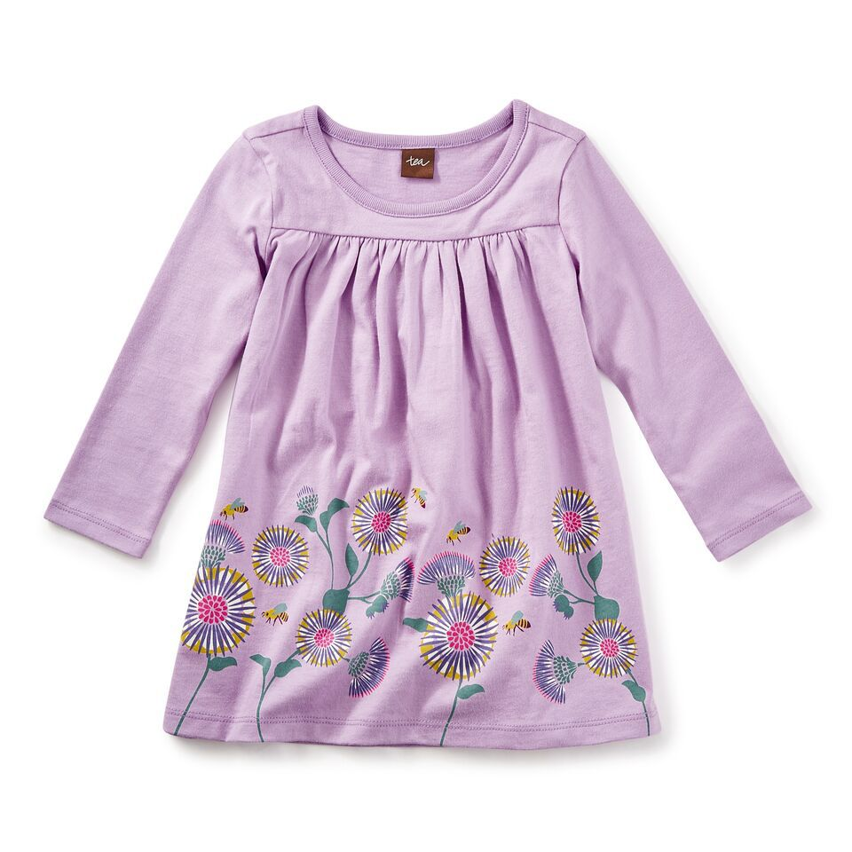 little girl thistle graphic dress, 18-24m