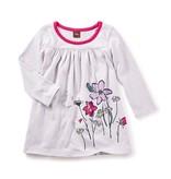 little girl faileas graphic baby dress, 6-9m