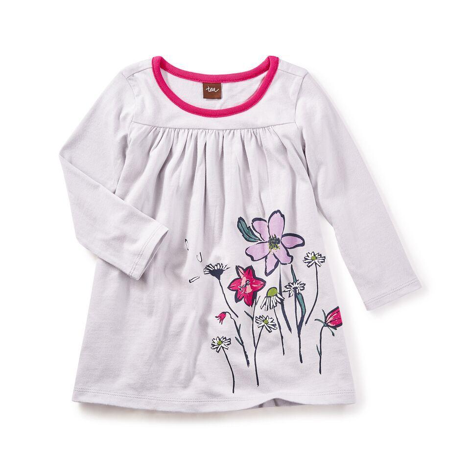 little girl faileas graphic baby dress, 12-18m