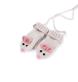 fashion accessory mouse mittens with cord