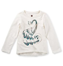 toddler girl peacock graphic tee, 2