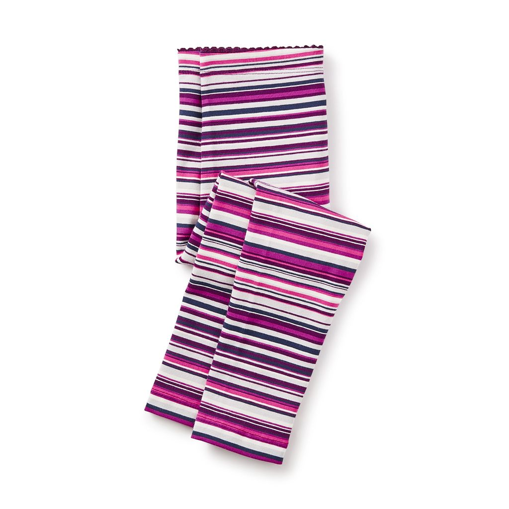 girl multistripe leggings, cosmic berry, 6