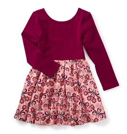 toddler girl dahlia skirted dress, 2