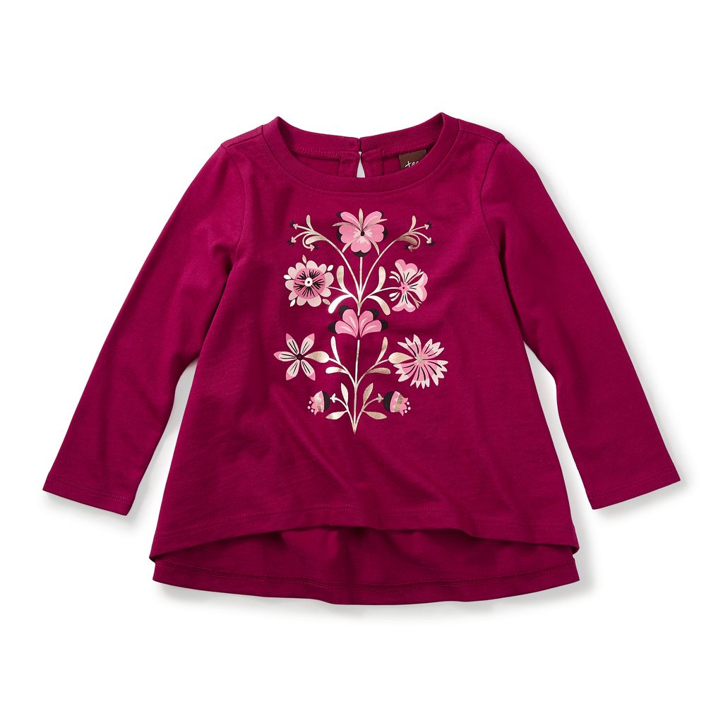 little girl cally graphic tee, 9-12m
