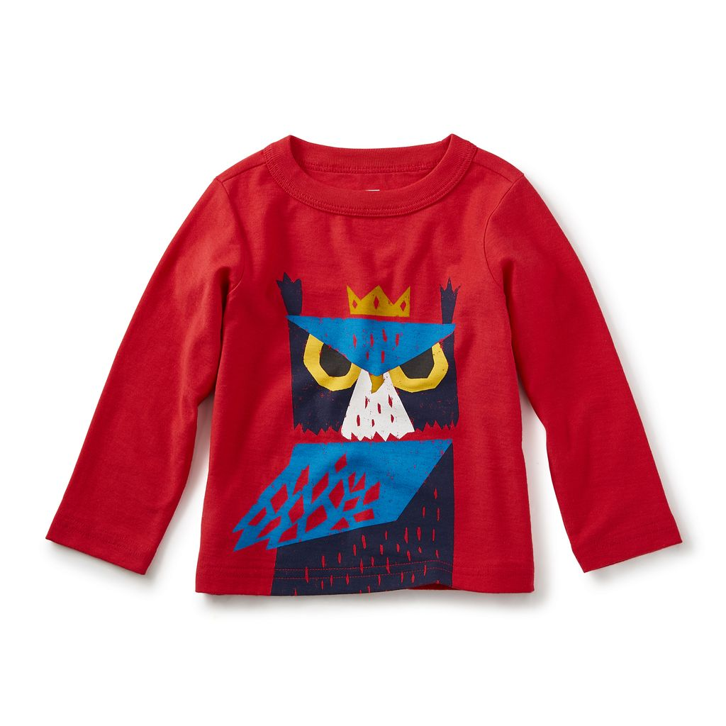 little boy horned owl graphic tee, 9-12m