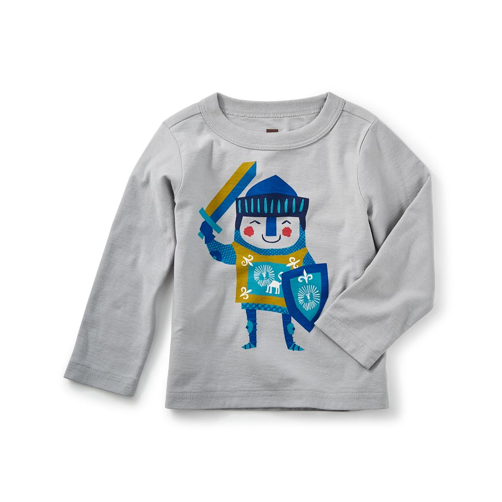little boy little knight graphic tee, 6-9m