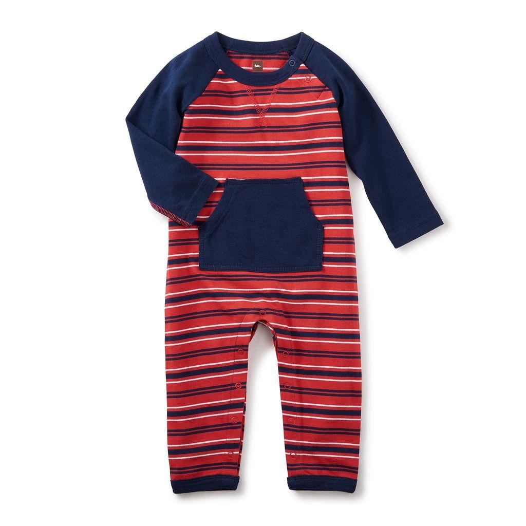 little boy taran pocket romper, 6-9m
