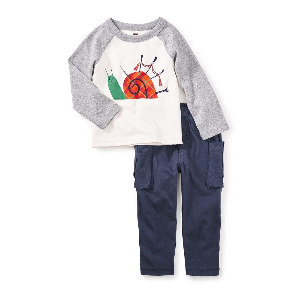 little boy puck's glen baby outfit, 12-18m