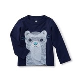 little boy river otter graphic tee
