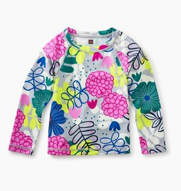 toddler girl long sleeve rash guard - bouquet