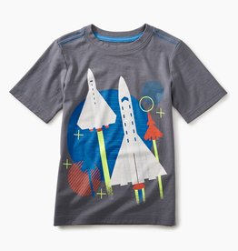 toddler boy space shuttle graphic tee, thunder, 2