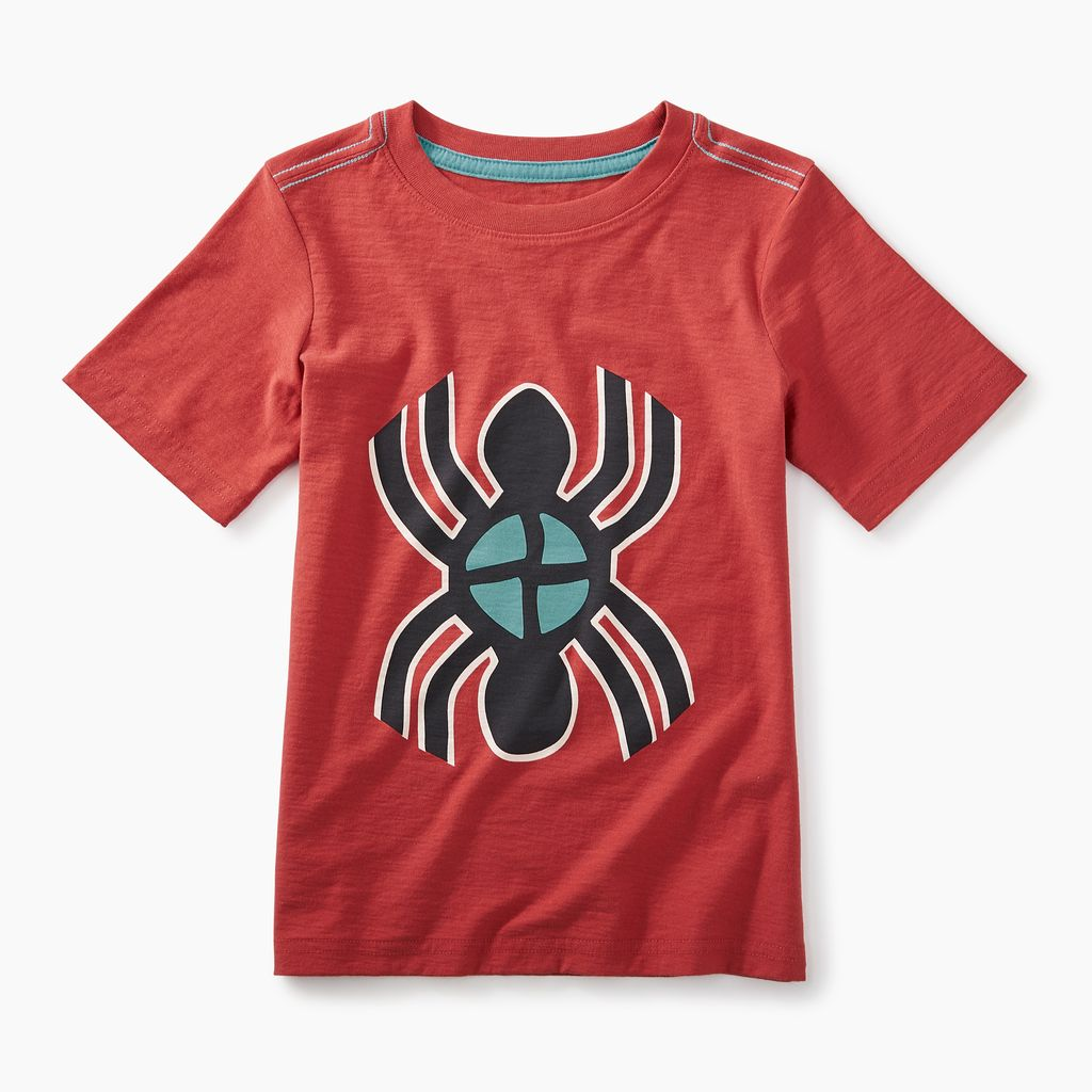 boy berry water spider graphic t, rustic red, 5