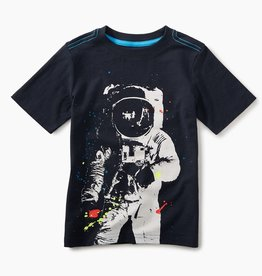 toddler boy astronaut graphic tee, heritage blue, 4