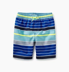 toddler boy print swim trunks