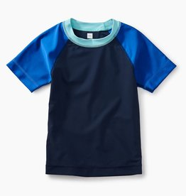 toddler boy short sleeve raglan rash guard