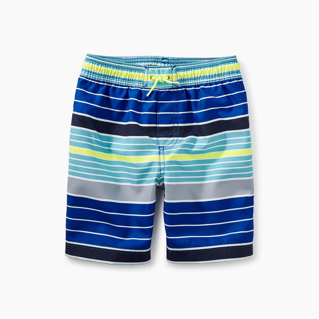 boy print swim trunks