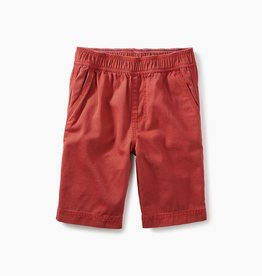 toddler boy easy does it twill shorts, rustic red, 4