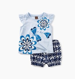 little girl blooming florals baby outfit