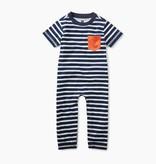 little boy classic striped romper