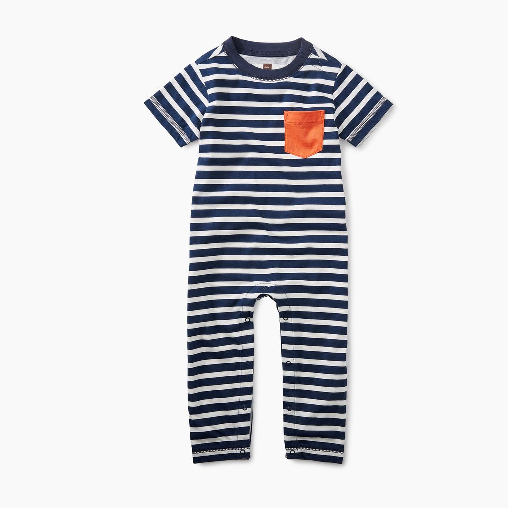 little boy classic striped romper