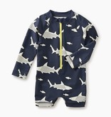 little boy shark rash guard one-piece