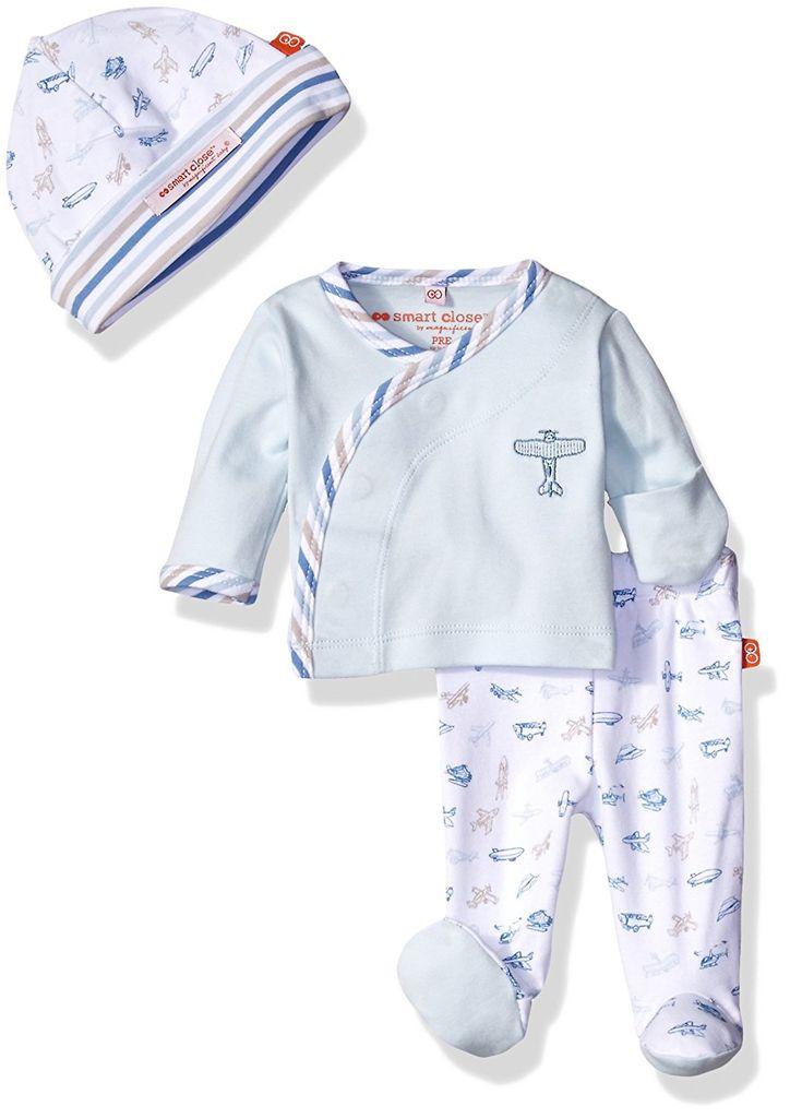 baby magnificent baby 3-piece kimono set