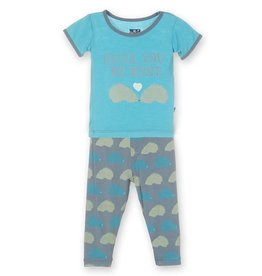 toddler boy kickee pants boy ss pajama set