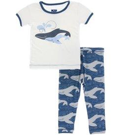 kid kickee pants ss pajama set