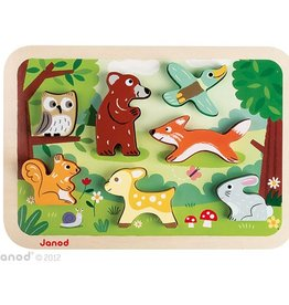 playtime Janod chunky forest puzzle