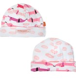 baby girl magnificent baby hot dog reversible hat, pink