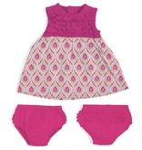 baby girl magnetic modal dress & diaper cover