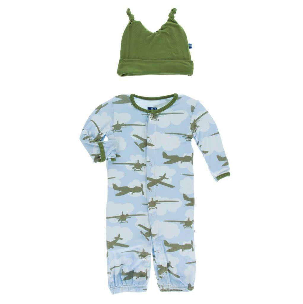 baby kickee pants gown converter & hat set
