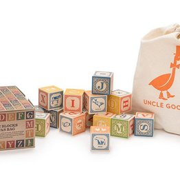 playtime wooden ABC blocks (English) w/ canvas bag
