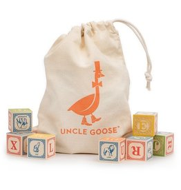 playtime wooden ABC blocks (Italian) w/ canvas bag