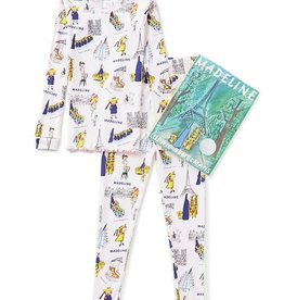 little girl madeline pajama and book set