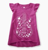 girl floral guitar twirl top