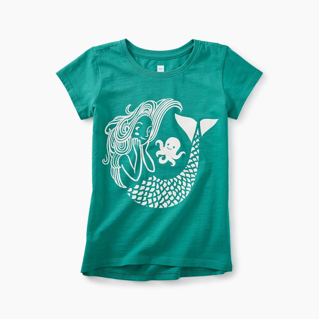 girl mermaid graphic tee