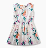 girl peach flower dress
