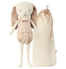 playtime bunny bell in bag, rose