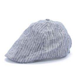 functional accessory linen newsboy cap