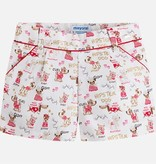 girl hipster dog shorts