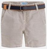 boy striped shorts w/ belt